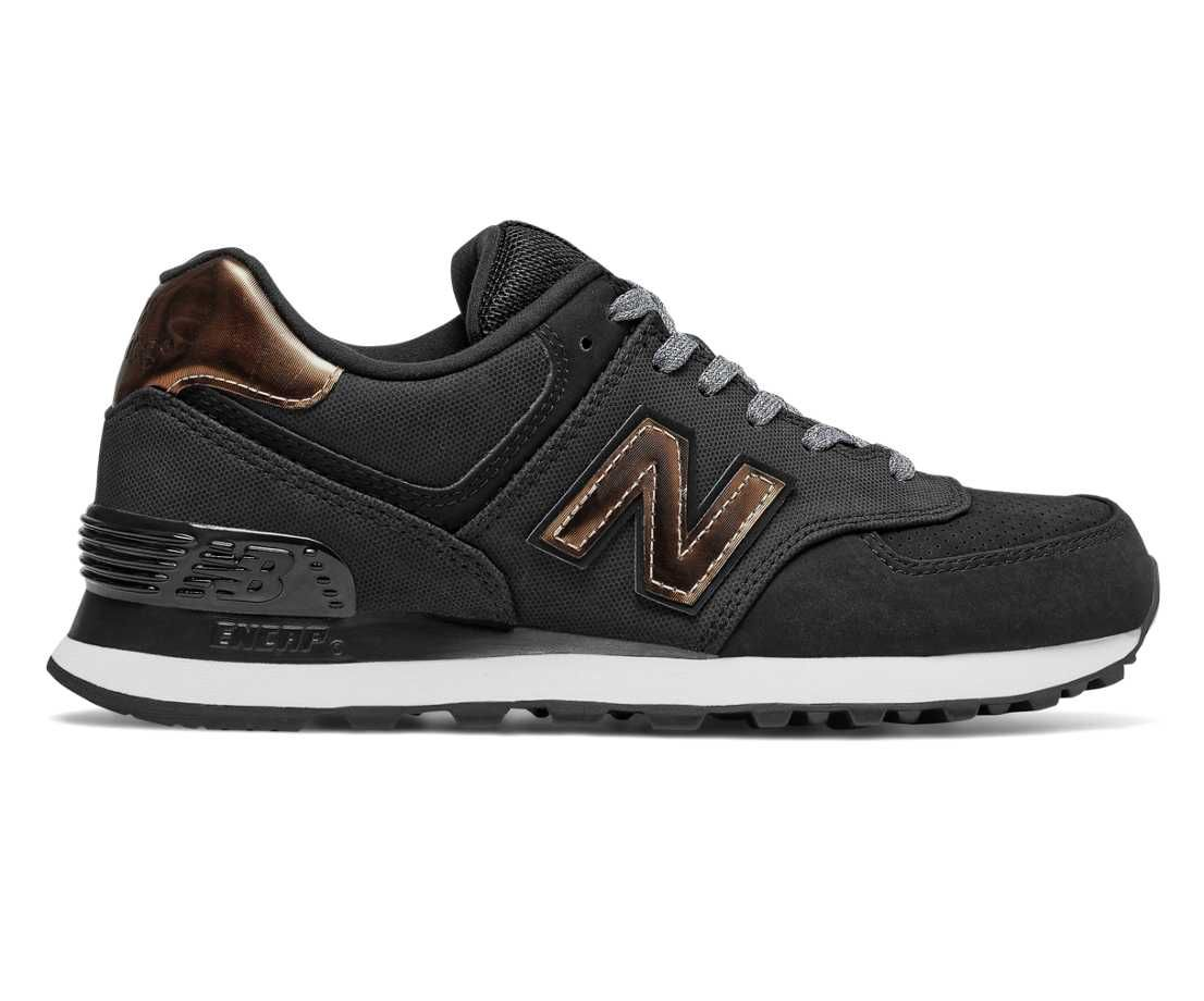 574 Varsity Sport, Black with Bronze (With images) Black