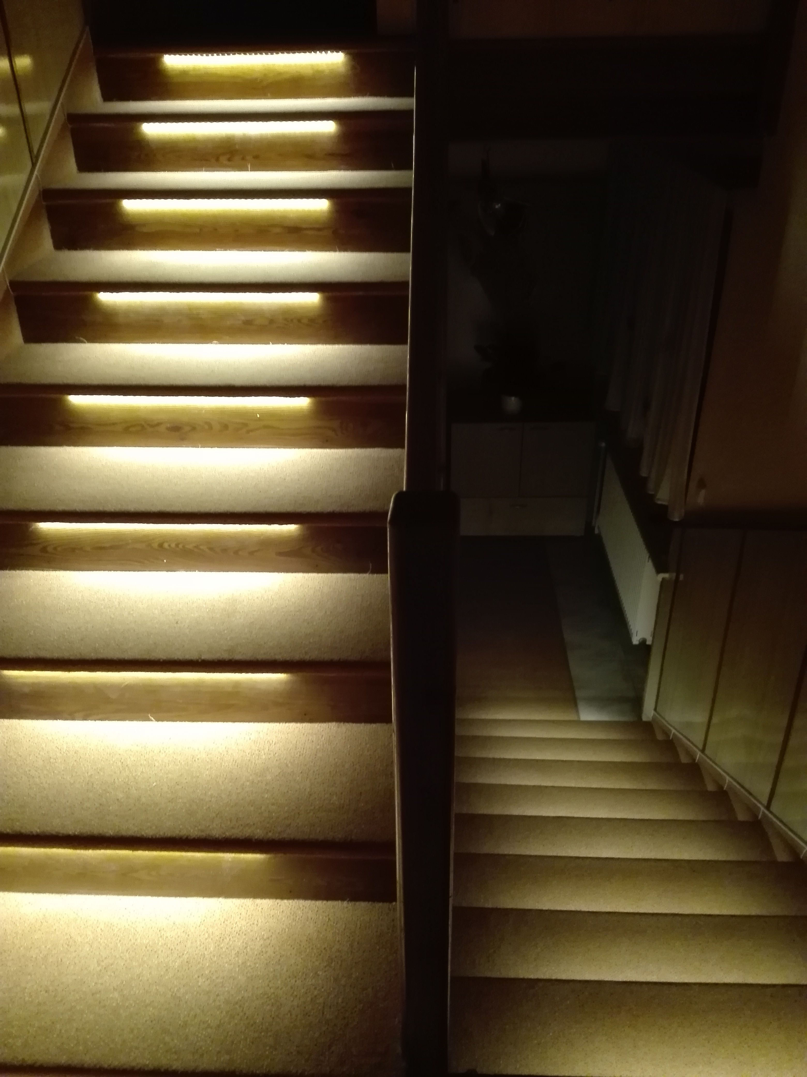 staircase lighting led. Staircase Lighting With Led Strip Lights 5050#ledstrip#strip#ledtape#tape#