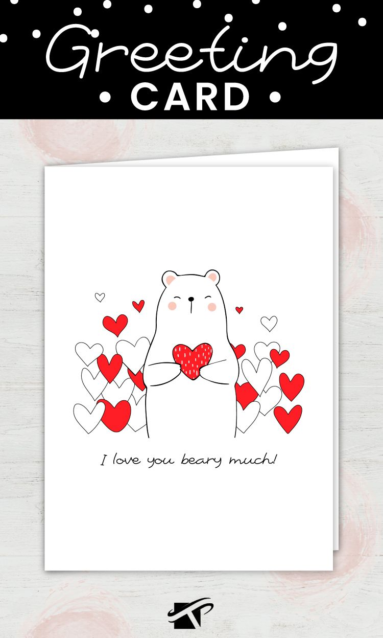 Bear Love Card For Anniversary Girlfriend Or Valentines Day Etsy Bear Card Anniversary Cards Boyfriend Anniversary Gifts