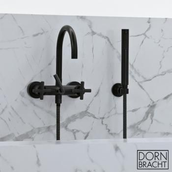 dornbracht tara wall mounted bath mixer with hand shower. Black Bedroom Furniture Sets. Home Design Ideas