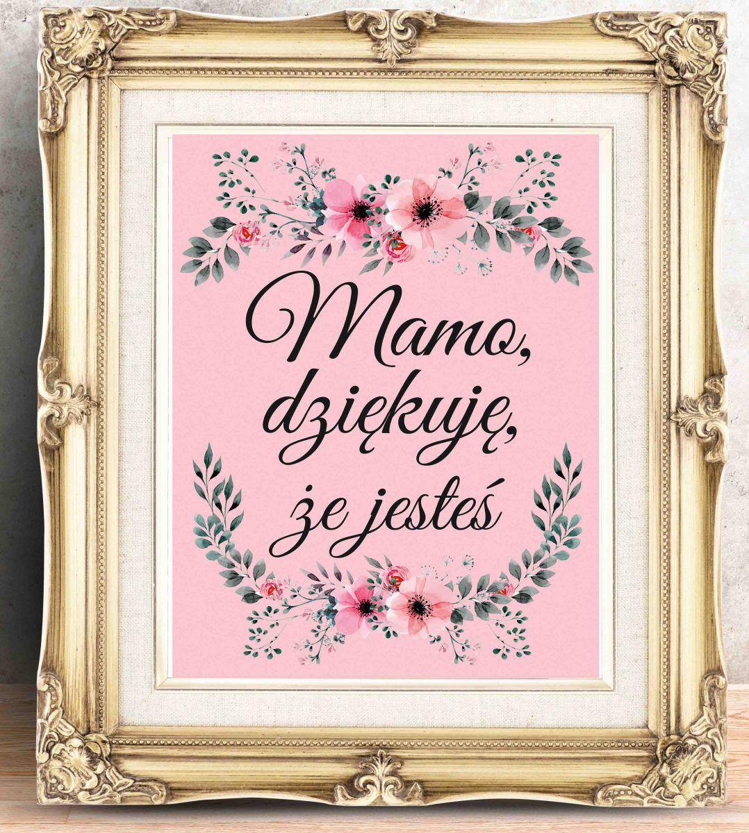 Swietny Plakat Na Dzien Matki Plakat Z Podziekowaniem Dla Mamy
