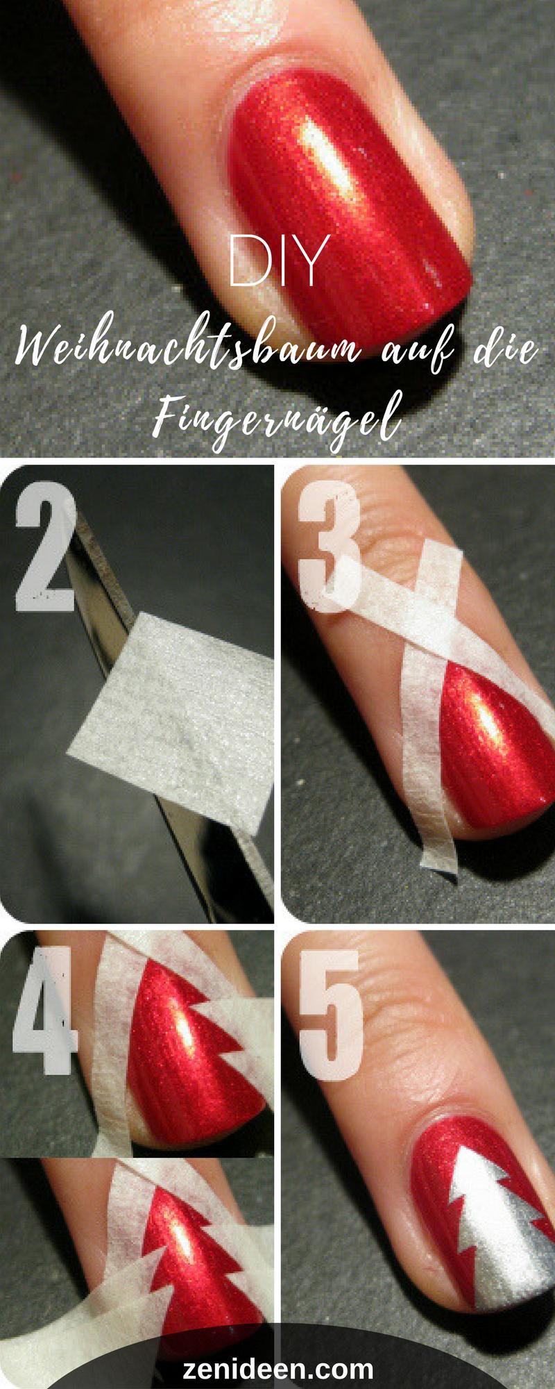 DIY Weihnachtsnägel für Anfänger | Nagelschere, Weihnachten und ...