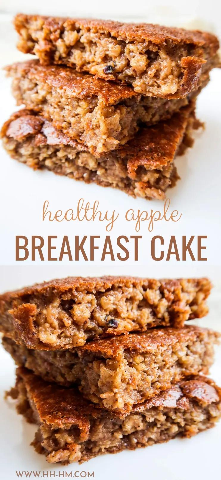 Healthy Breakfast Oatmeal Apple Cake