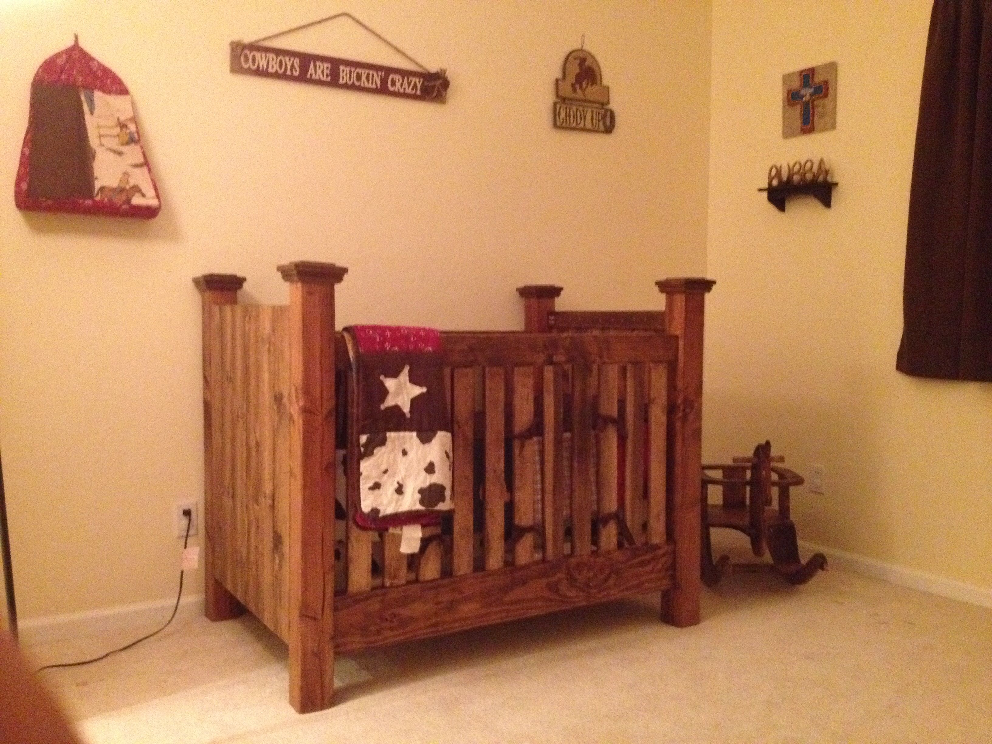 Baby cribs victoria - My Homemade Western Baby Crib