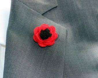 Satin Ribbon Lapel Pins | poppy lapel pin, Mens lapel pin , flower