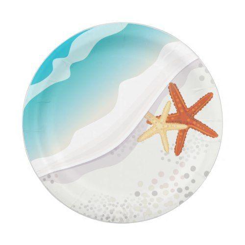 Beach Party Paper Plate Zazzle Com Paper Plates Party Plates