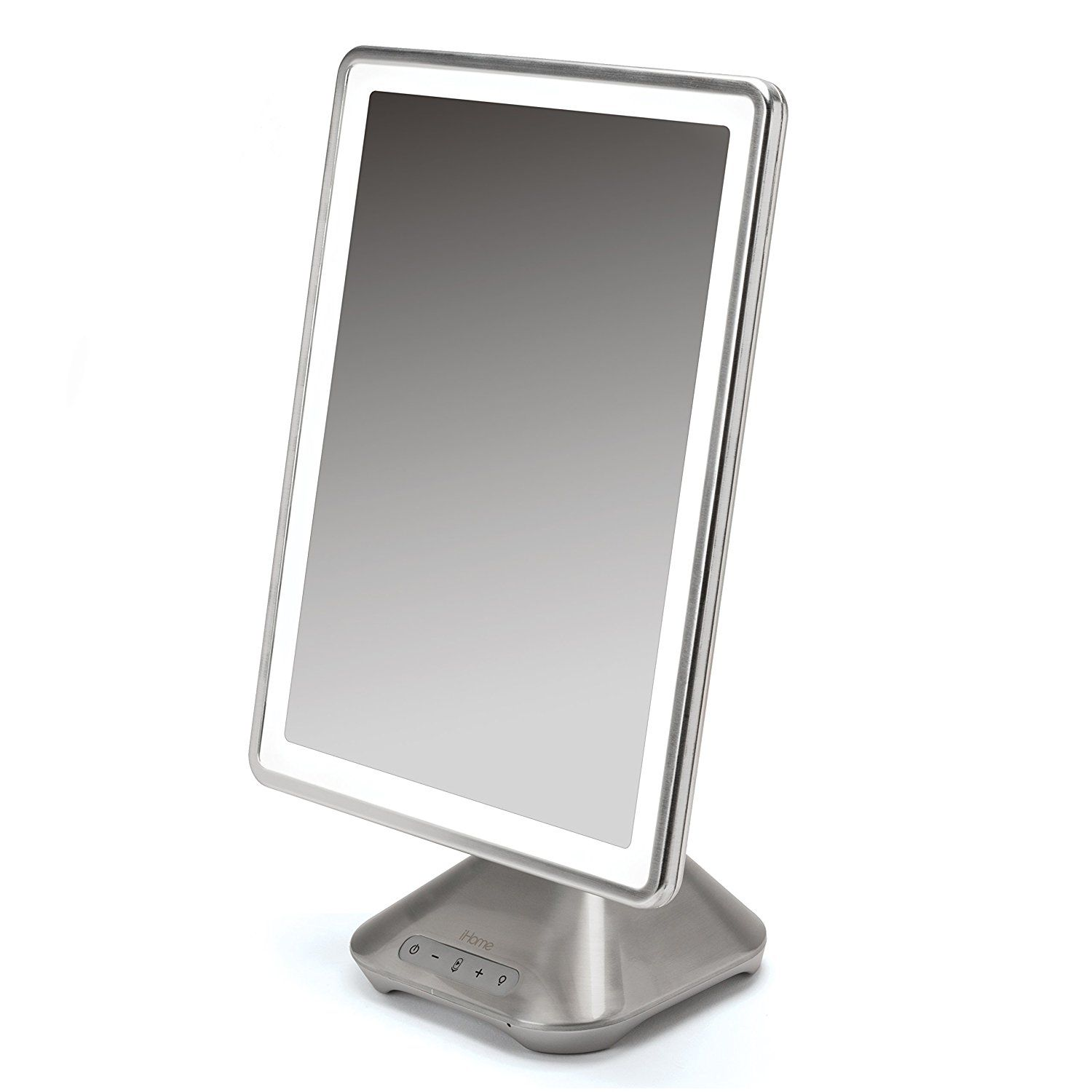 Amazon Com Ihome 10 X 13 Icvbt10 Reflect Pro Portable Adjustable Vanity Mirror With Bluetooth Audio Hands Free Speakerphon Vanity Mirror Mirror Led Lights