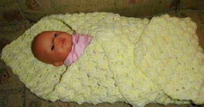 crochet baby blanket pattern (that can be done in 3 hours, though it would probably take me at least double that)