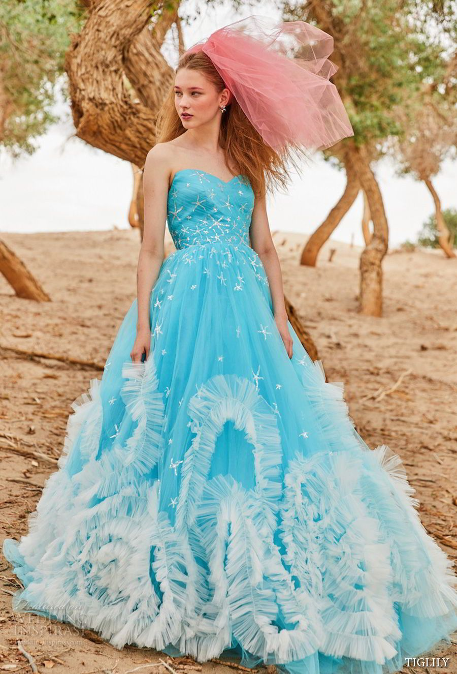 TIGLILY 2018 Wedding Dresses | Vestidos de novia de colores ...
