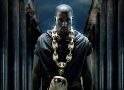 Kanye West Standing Between Masonic Pillars While Wearing Necklace With The Egyptian God Horus Kanye West Power Kanye West Kanye West Songs