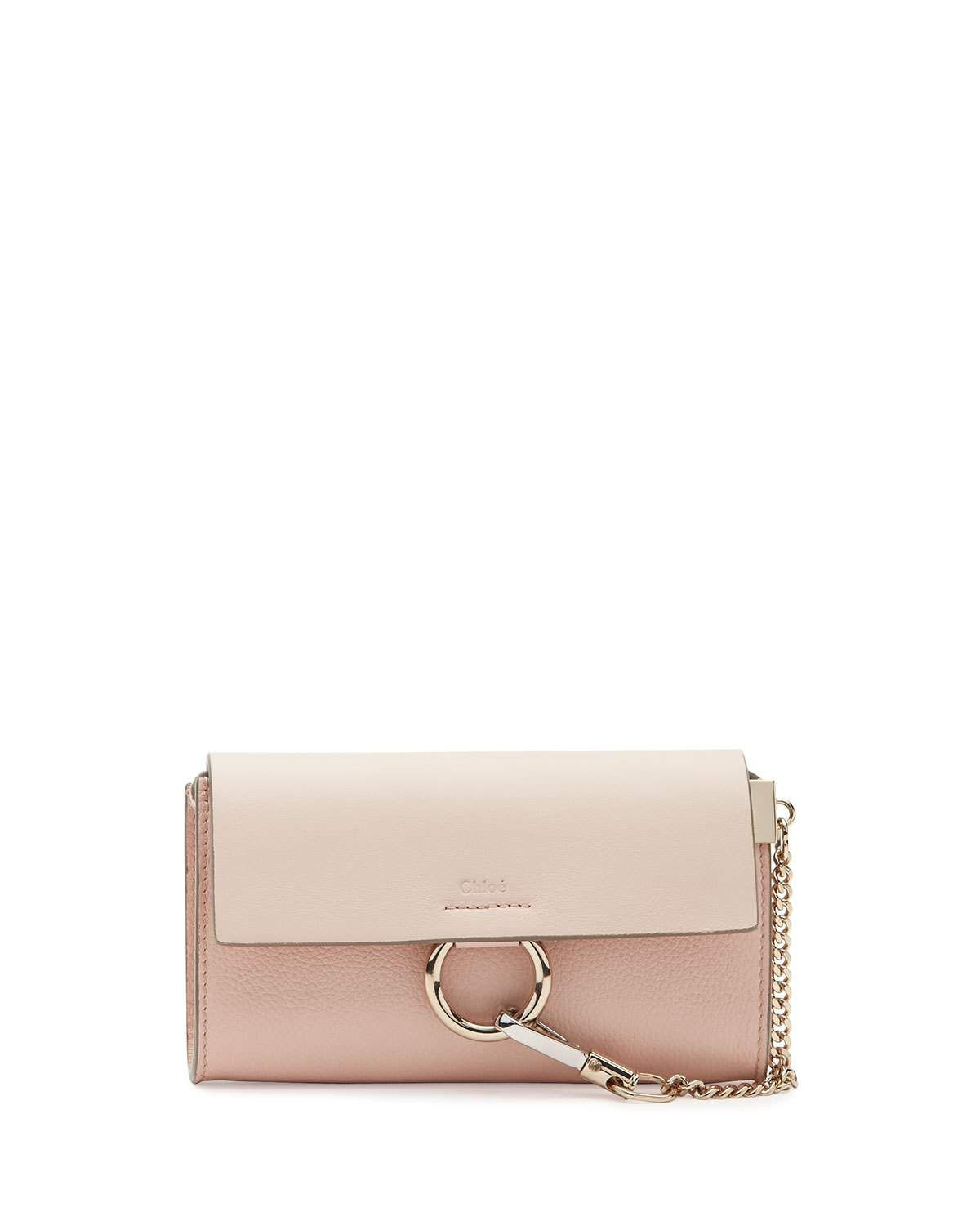 be564ff950b Faye Leather Wallet-on-a-Strap Light Pink in 2019   Products ...