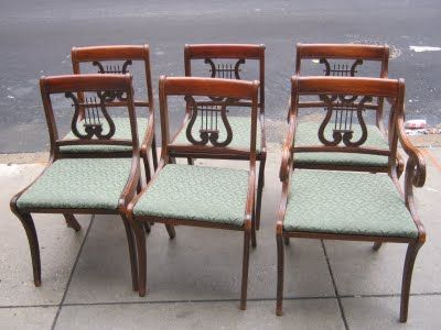 Duncan Phyfe Lyre Back Dining Chairs Furniture Styles