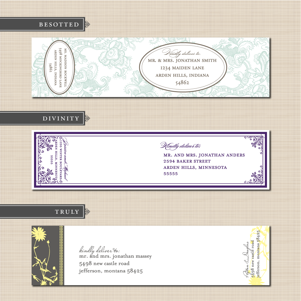 Wrap around address label soon to be mrs pinterest weddings