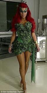poison ivy batman costume  sc 1 st  Pinterest & Kim Kardashian is minus husband Kris Humphries as she pours her ...