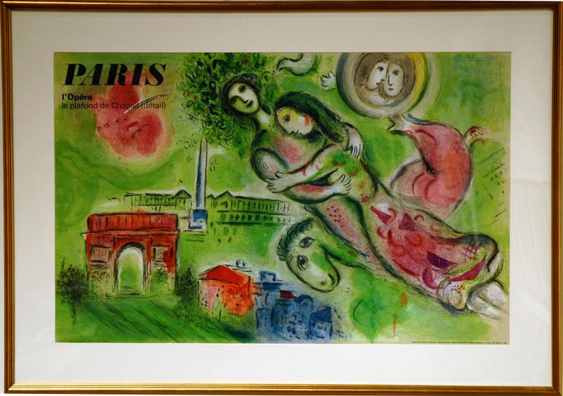 Chagall: Romeo & Juliet poster... his lovers always seem to embody joy!