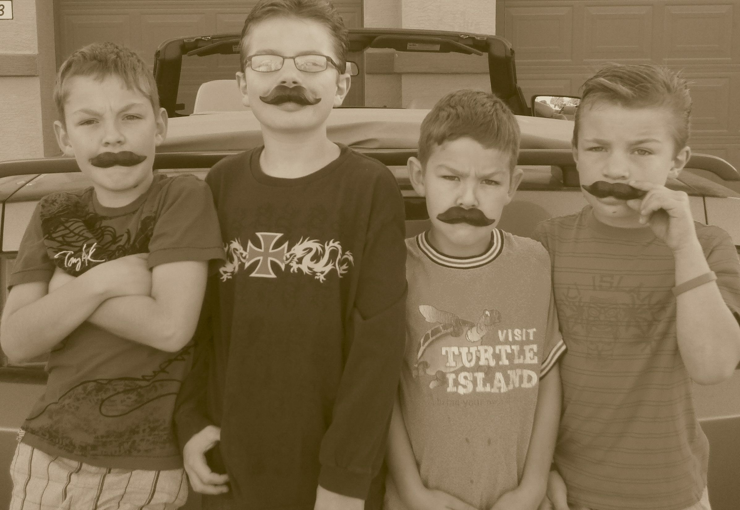 halloween candy staches....thanks grandma and papa! Papa