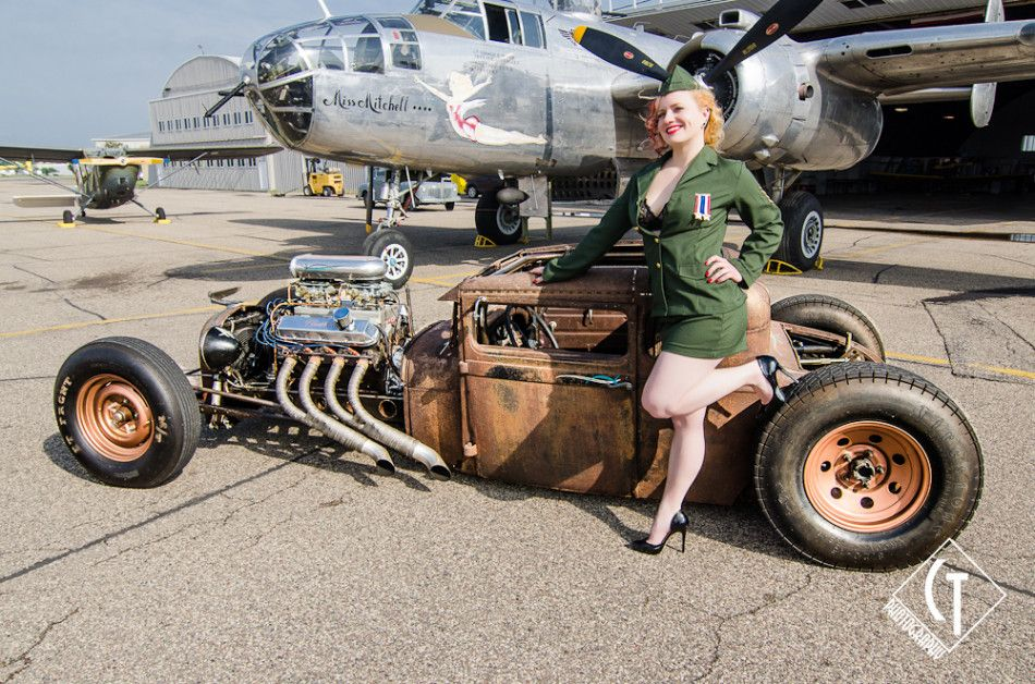 pinup, model, ratrod, rat rod, rust, air force, hot rod, v8 | Pin ...