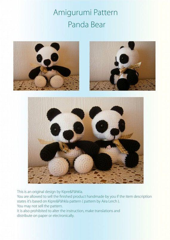Amigurumi pattern - Panda, bear, crochet easy