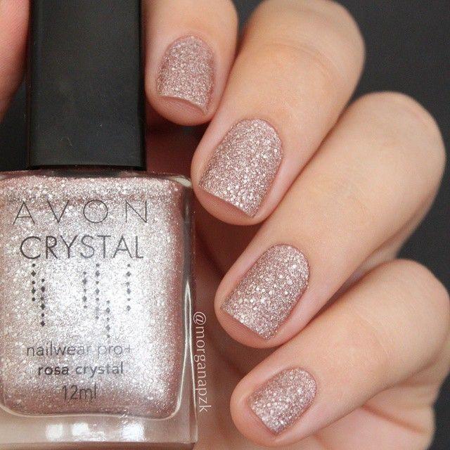 Esmalte Texturizado Rosa Crystal da Avon   Unhas Rosa   Sand Nail ...