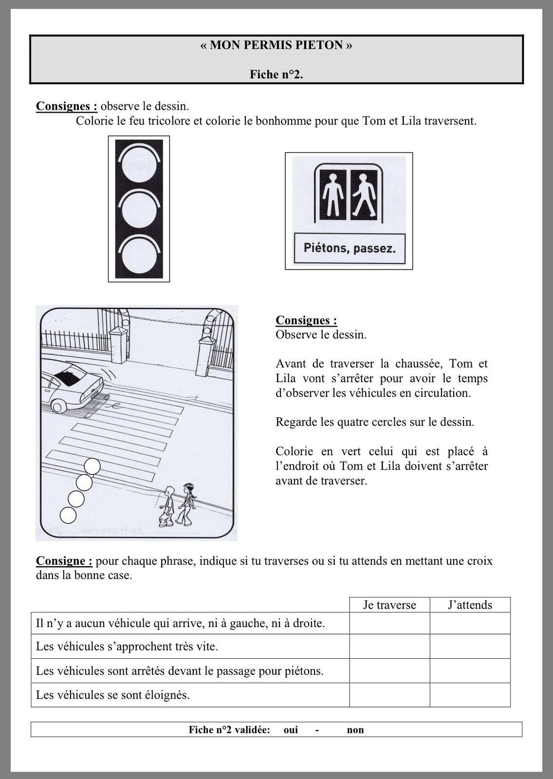 mon permis pi ton fiches ce1 s curit pinterest mon permis permis et ce1. Black Bedroom Furniture Sets. Home Design Ideas