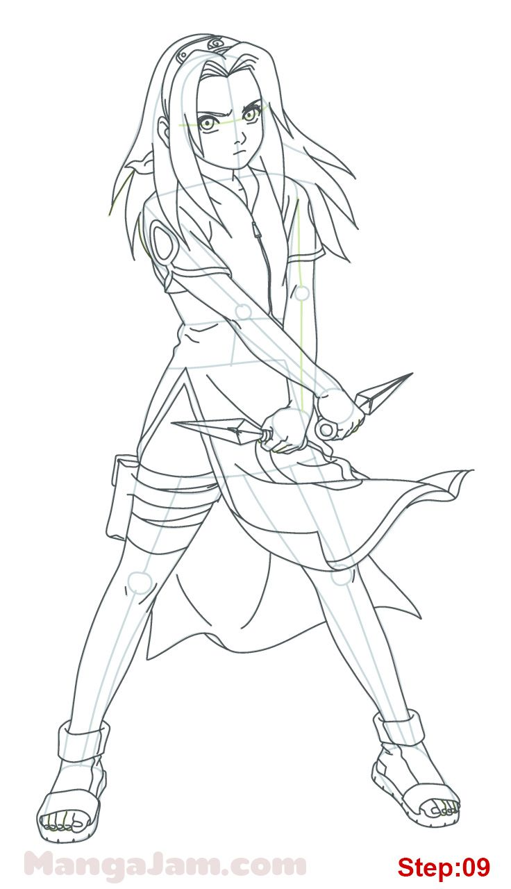 How To Draw Sakura Haruno From Naruto Desenhos Para Colorir
