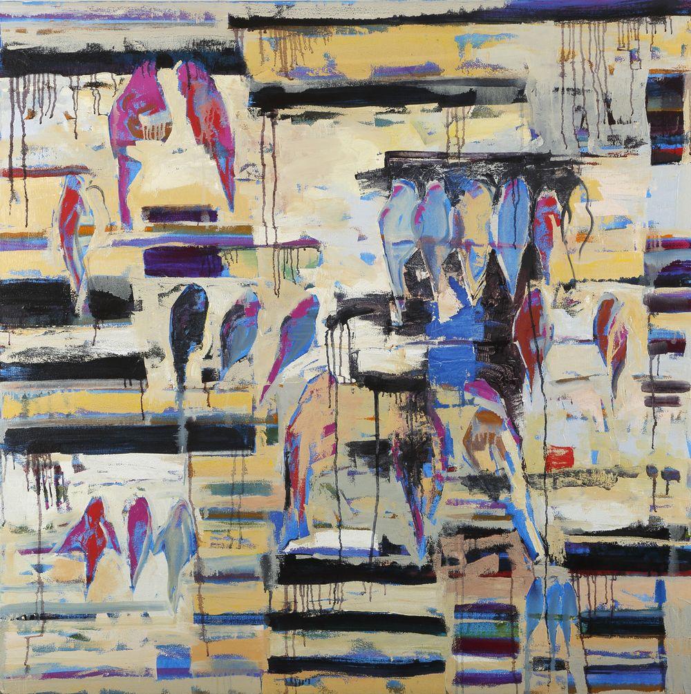 Castem 48x48, Oil on canvas, Cheryl Chapman