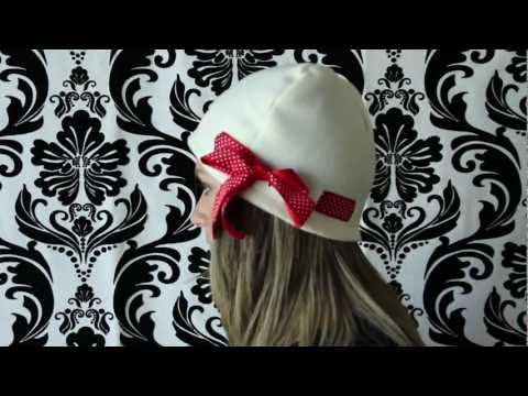 You can make acute fleece hat with ribbon sizes baby to adult! Free ...