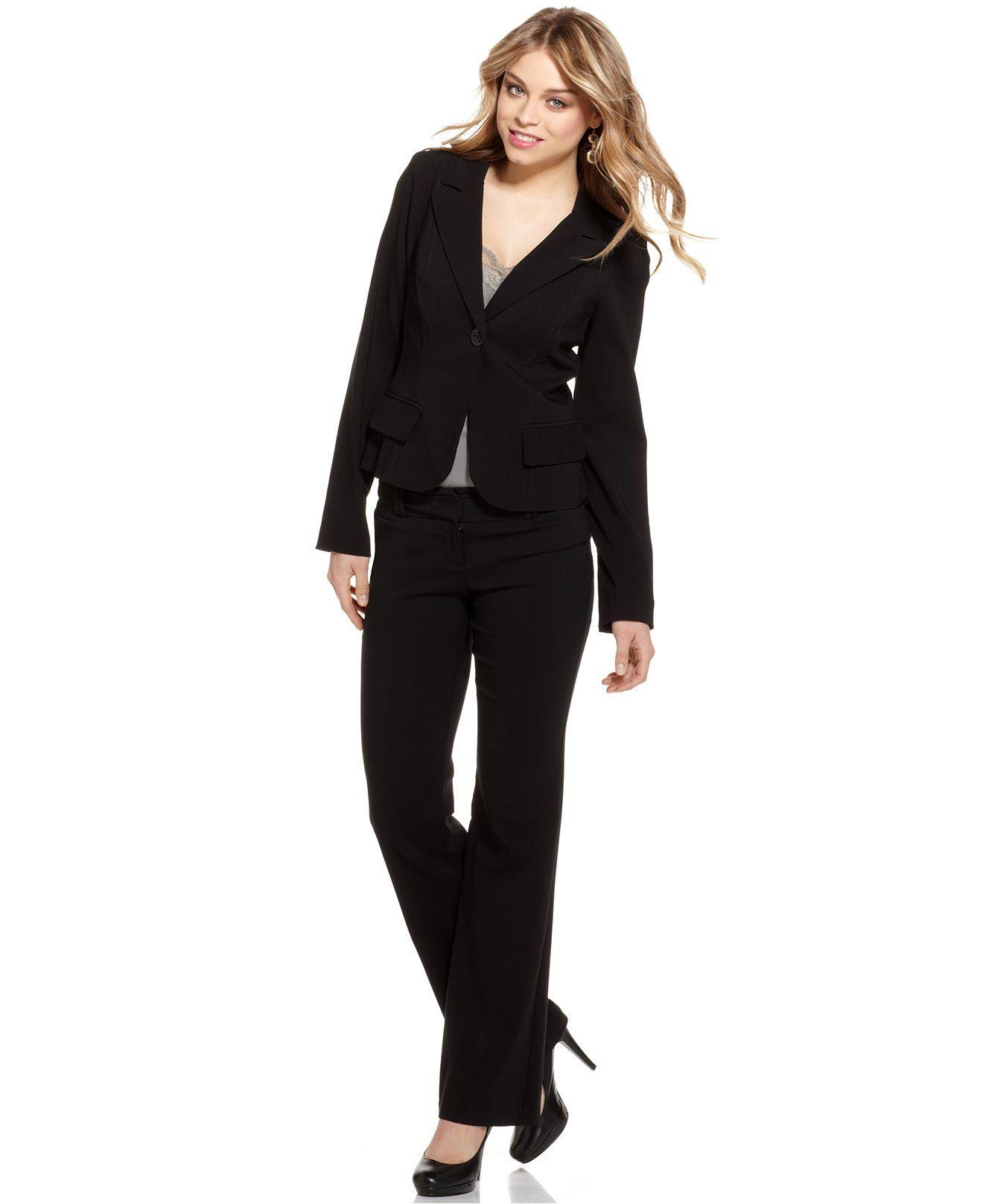 Xoxo Suit Jacket Pant Juniors Macys Professional Wear Business Fashion