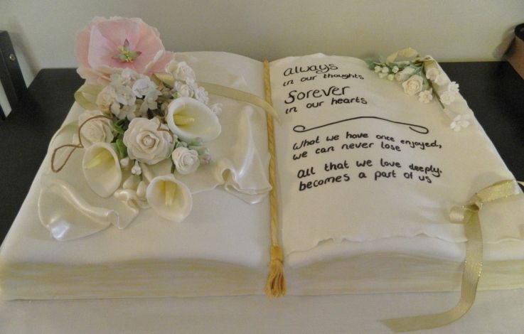Decorated Cakes For A Funeral Cake With Vanilla Buttercream