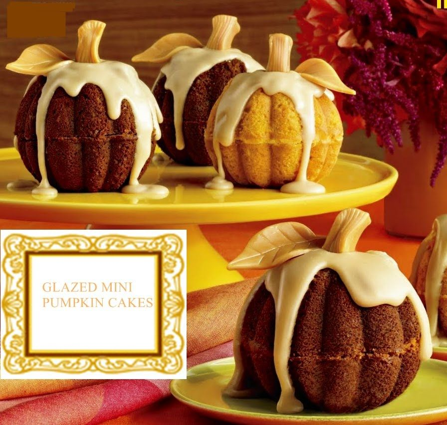 Mini Pumpkins Use 6 Cup Mini Bundt Cake Pan Holidays