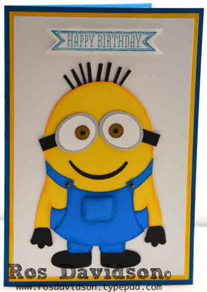 Minion Birthday Card Dont Like Eyes Despicable Me Stampinup
