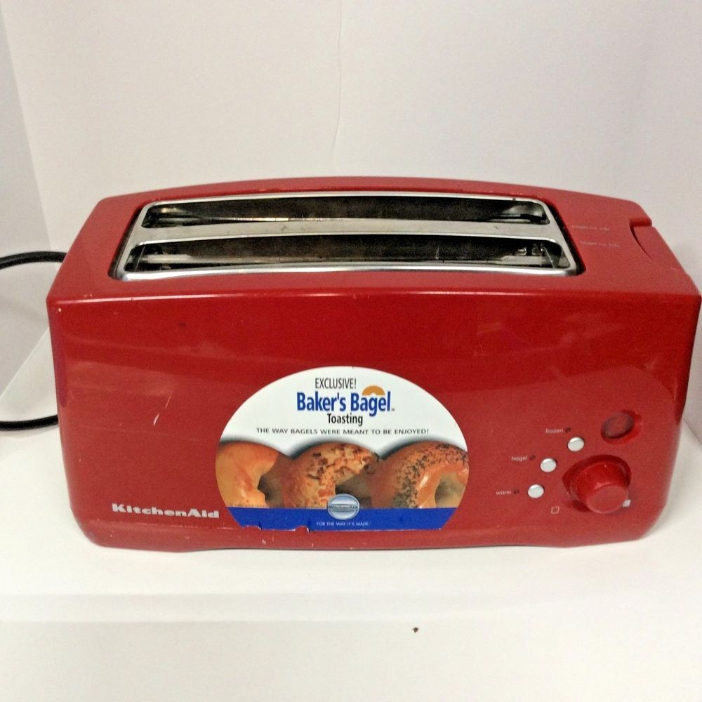 kitchenaid everythingkitchens empire slice red long toaster