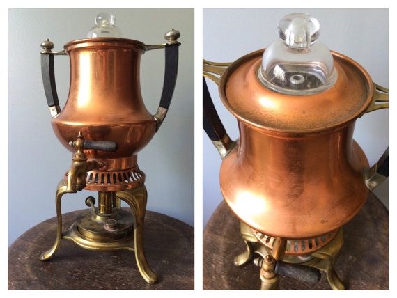 Antique 1800s Copper Coffee Pot Percolator Maker Universal Landers Frary Victorian Home Decor 19th Century Edwardian