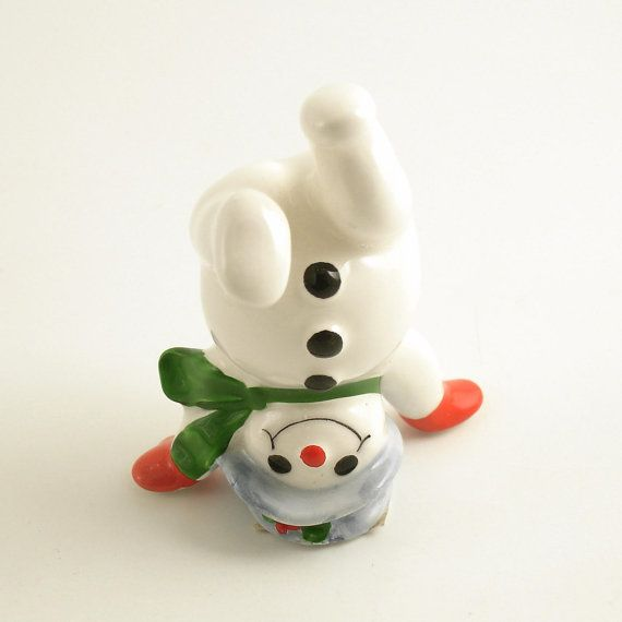 Vintage Christmas Decoration Tumbling Snowman Fitz & by efinegifts, $7.95