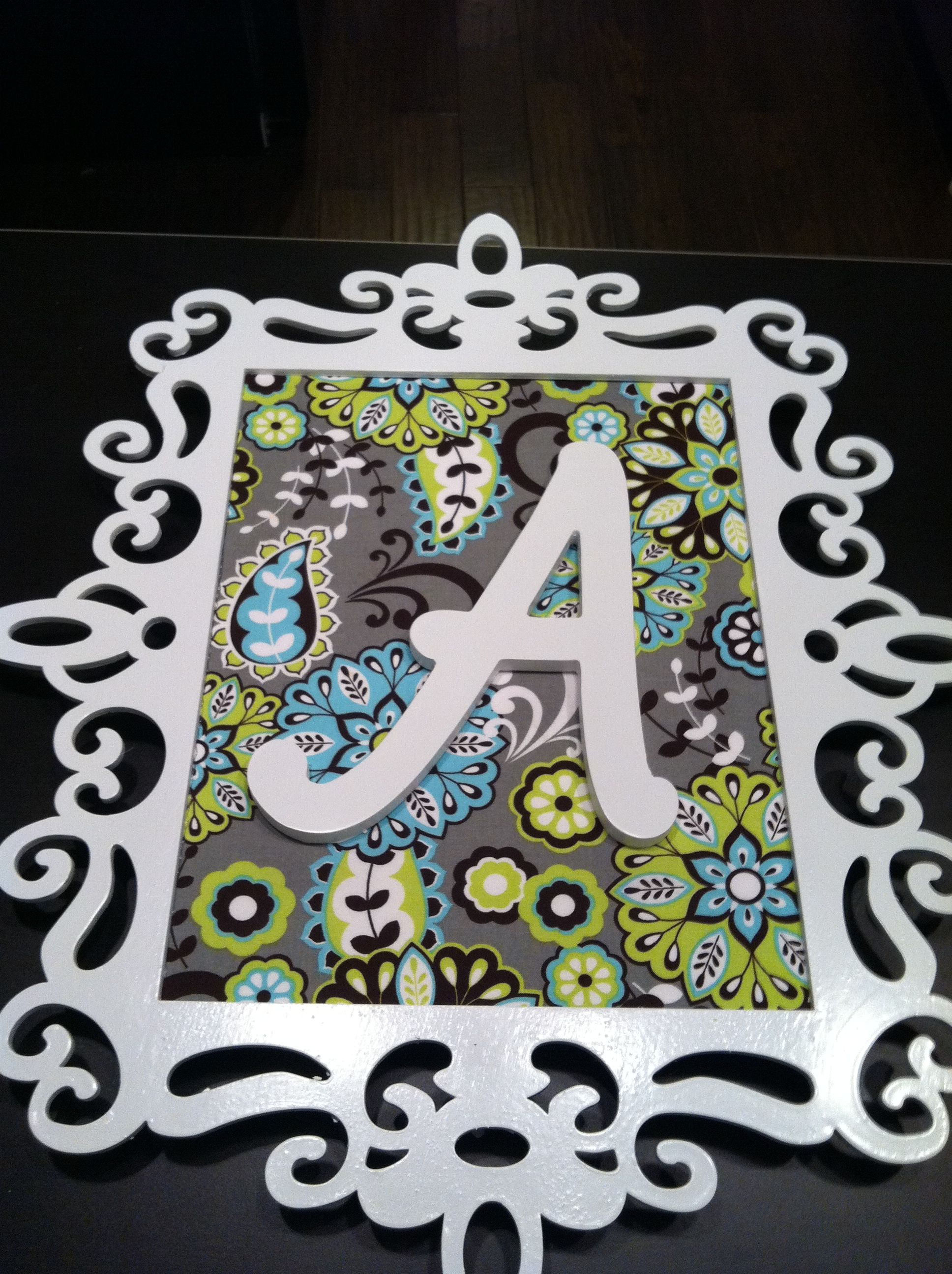 Fabric wrapped canvas with chipboard border. Crafts
