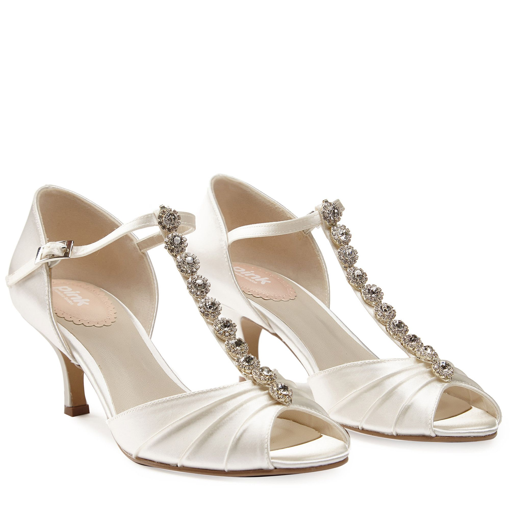 47cf1751b6d ... Wedding Shoe Vintage inspired t-bar Fantasy jewel sandal. If features a  slim and comfortable heel height. Comfort is key with ultra soft memory foam  ...