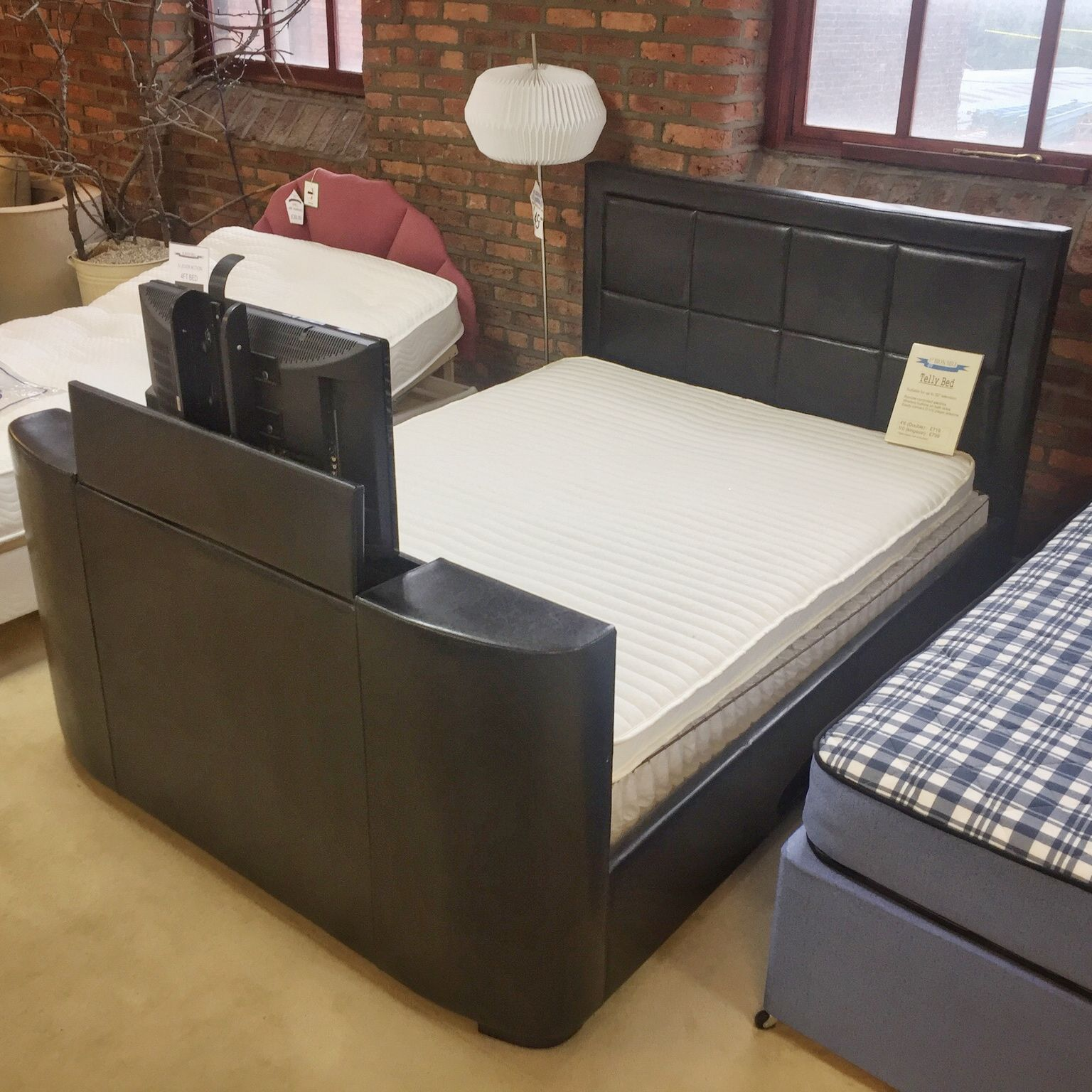 Telly Bed A Quality Bed With Built In Tv Stand Bed Bed Centre