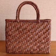 網代編み10mm 山葡萄かごバッグの画像