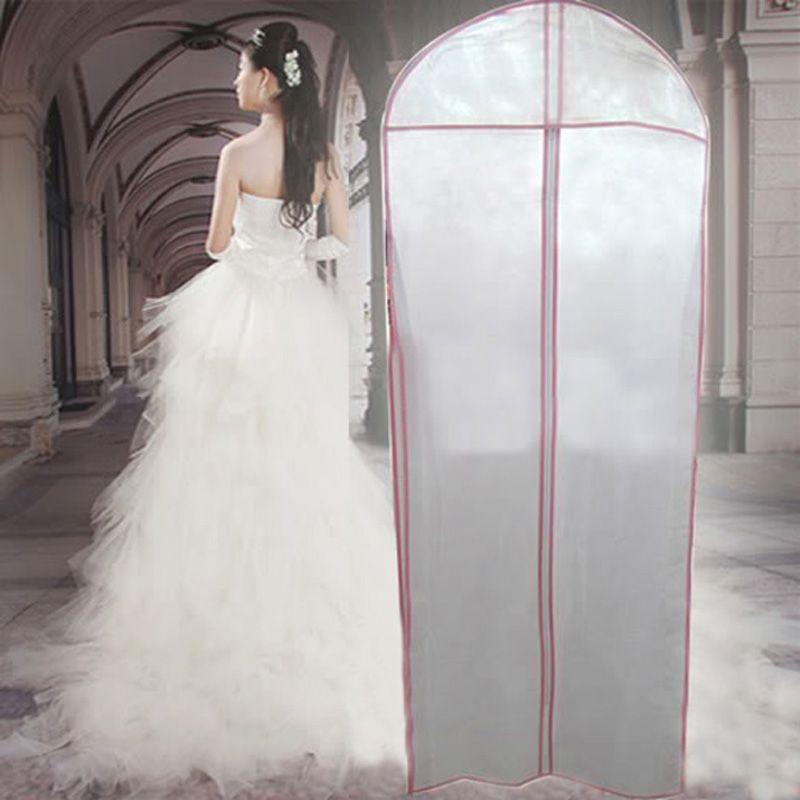 Brand New Saco De Armazenamento Organizacao Roupas Garment Bag Capa Roupa Protector Case Para Orga Wedding Dress Garment Bags Bridal Dresses Wedding Dress Bags