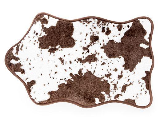 Brown Cow Bath Rug Kikkerland Design Inc Faux Cowhide Rug Bath Rug Faux Cowhide