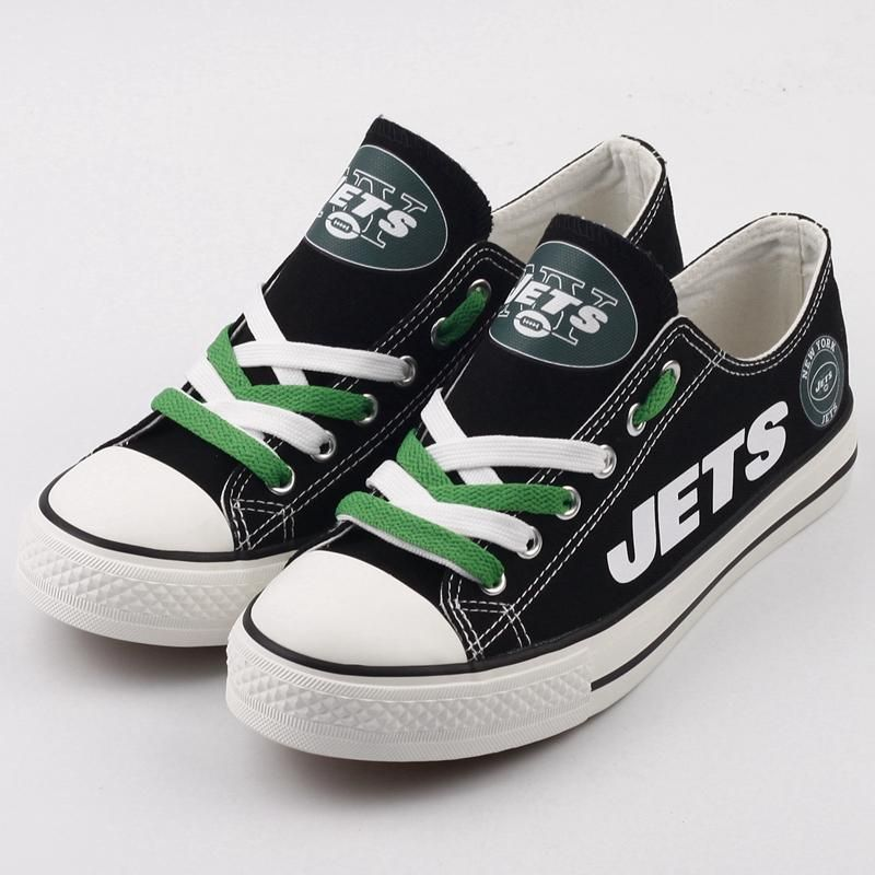 df5a2351b0cb NFL Football Novelty Design Canvas  shoes Printed Logo  newyorkjets Le – 4  Fan Shop