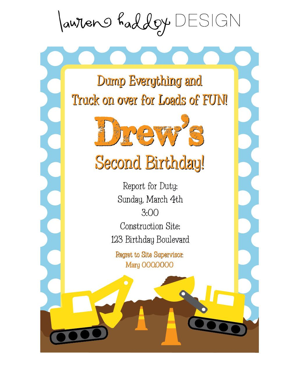 DIY, Construction Birthday INVITATION ONLY | Construction birthday ...