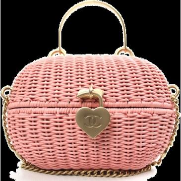 Chanel Pink Rattan Basket Shoulder Bag Rare  965.00 - sold ... f214ebd447a54
