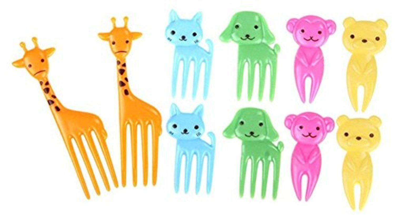 BleuMoo Bento Animal Shaped Food Fruit Picks Forks Lunch Box Accessory Decor Tool (Giraffe) - Brought to you by Avarsha.com