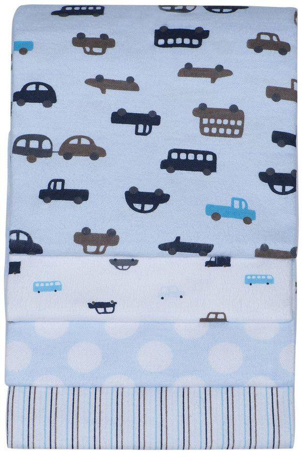 Carter's Receiving Blanket -4pk- Blue Cars
