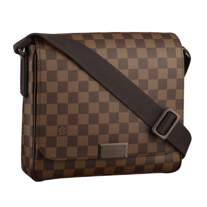 bb9d6c55032a Louis Vuitton Damier Ebene Canvas District PM Messenger Bags N41213 ...