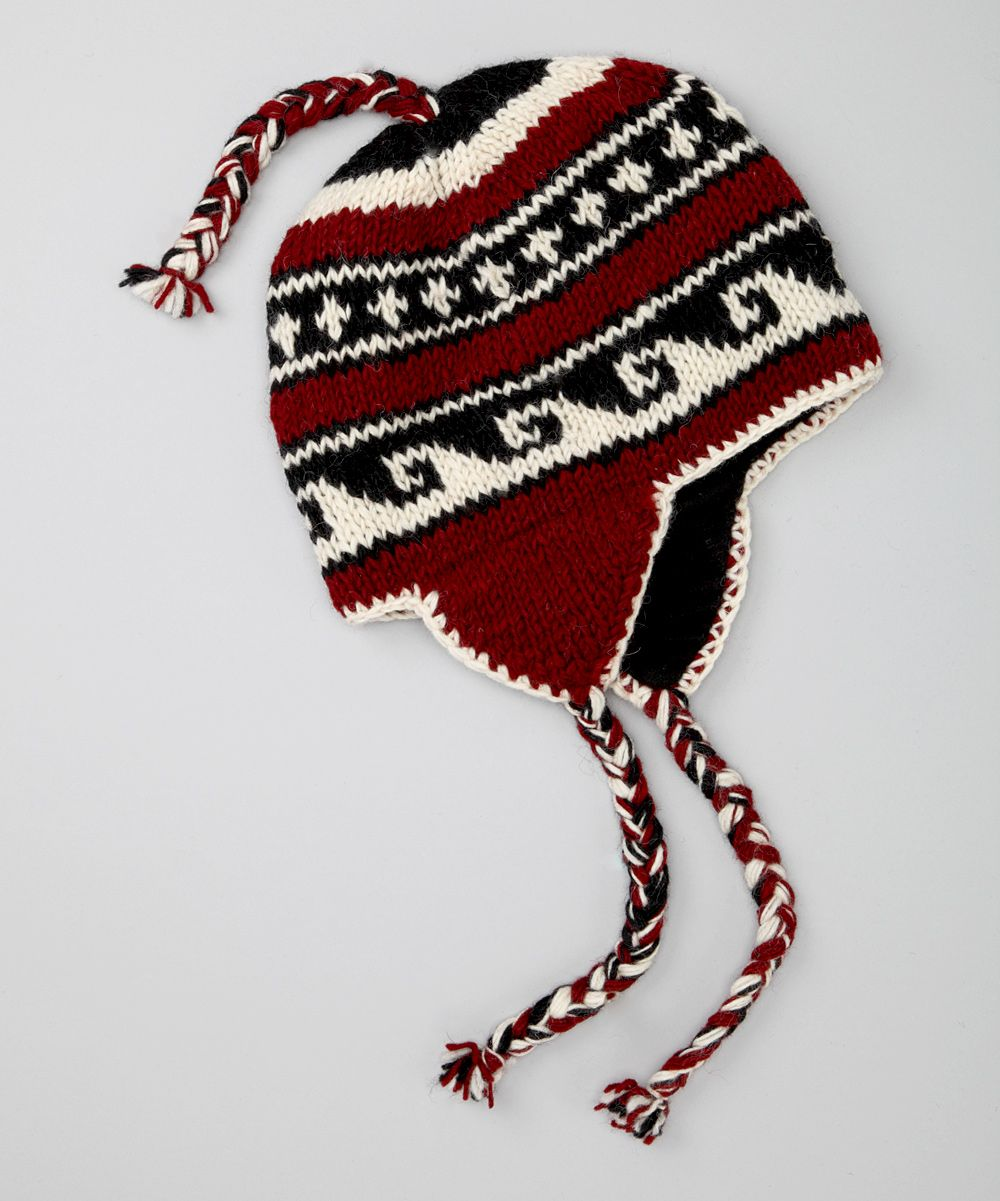 Red Vutta Earflap Beanie | Надо купить | Pinterest | Short braids ...