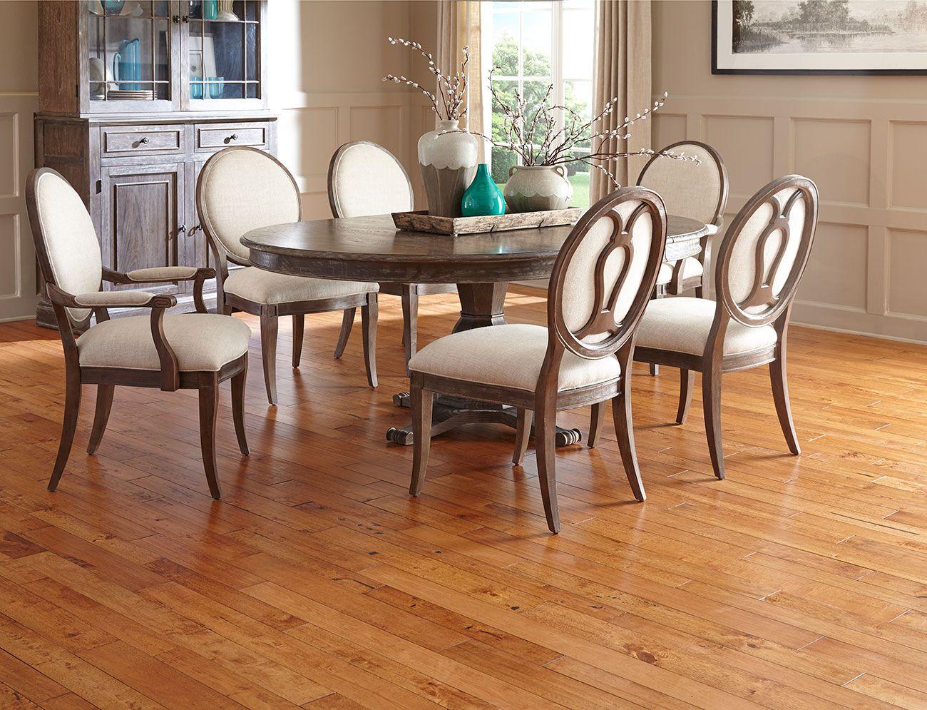 Rustic elegant dining room restoration hardware solid seringa rustic elegant dining room restoration hardware solid seringa hardwood random widths impressions dzzzfo