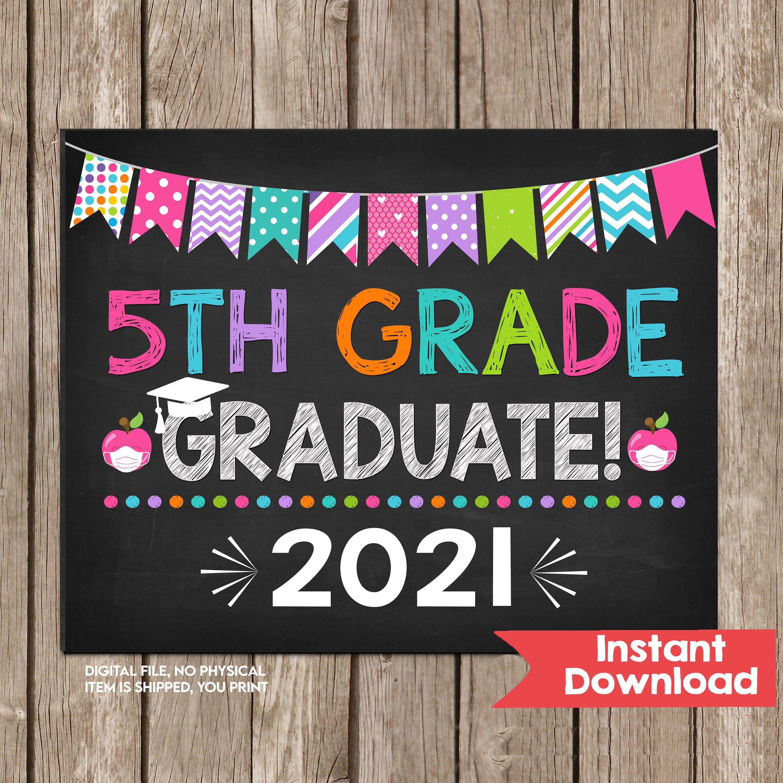 Fourth Grade Chalkboard Digital Printable INSTANT DOWNLOAD Next Stop 4th Grade School Photo Prop Elementary School Prop Party Decor