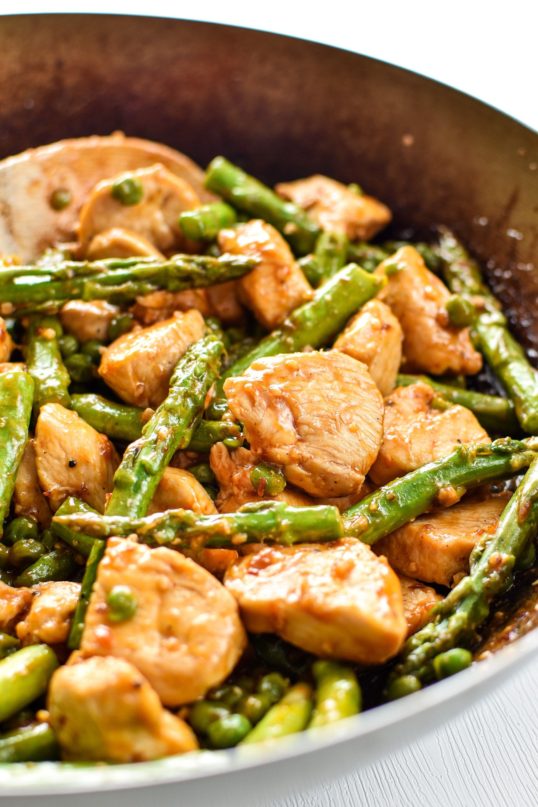 Chicken and Asparagus Rice Bowl